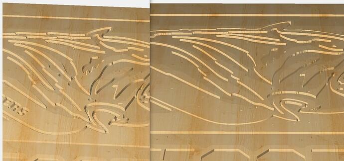 Left is original w advance v carve for tiger right is without advance v carve for tiger.PNG