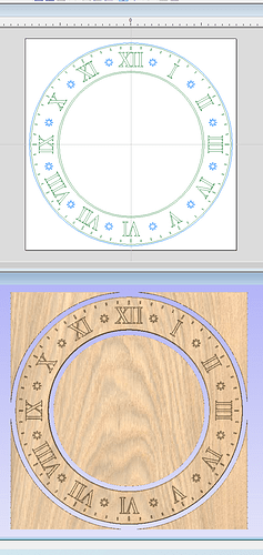 Clock Face and Numerals
