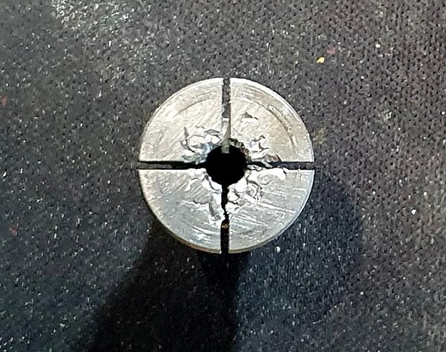 collet damage