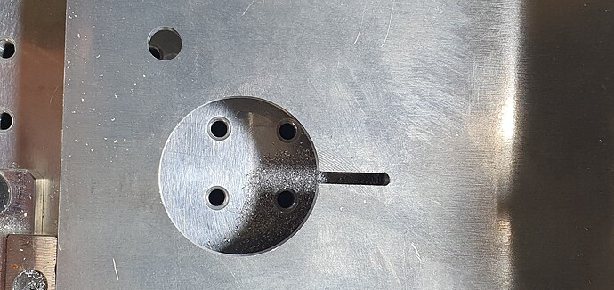 hole and slot placement