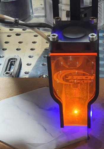 laser 100% power