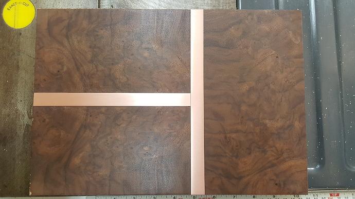 Copper and Walnut Burl Tray1