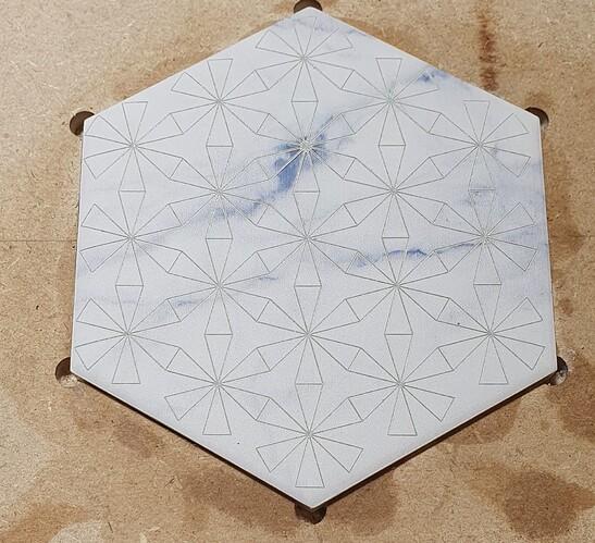 leaf pattern laser engraved