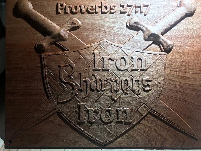CNC Iron Sharpens Iron 2