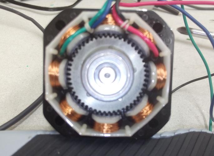 inside a nema 23 micro stepper
