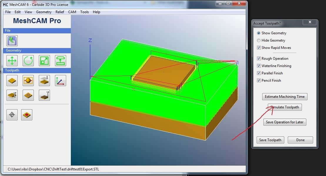 Simulate Toolpath - MeshCAM - Carbide 3D Community Site