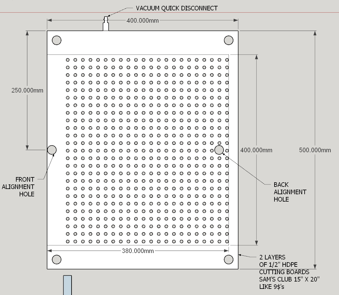 vacuum table tutorial - shapeoko