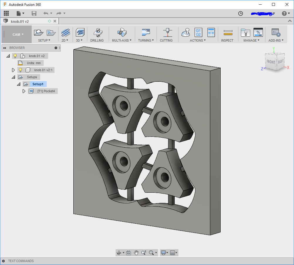 Fusion 360: Cutting just around the outside of a shape - Software