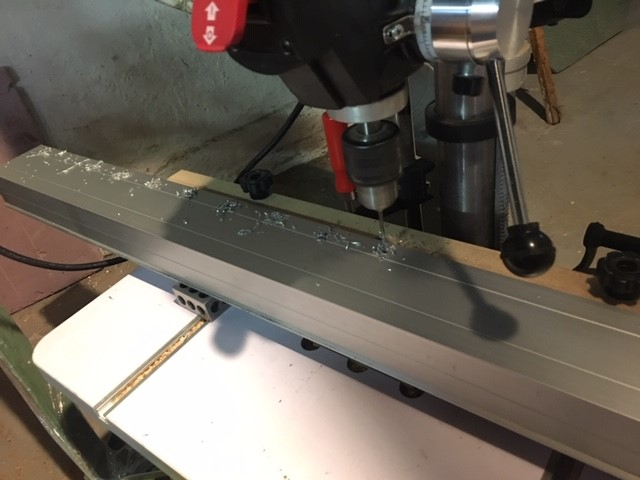 Drilling First Row of Linear Rail Mounting Holes