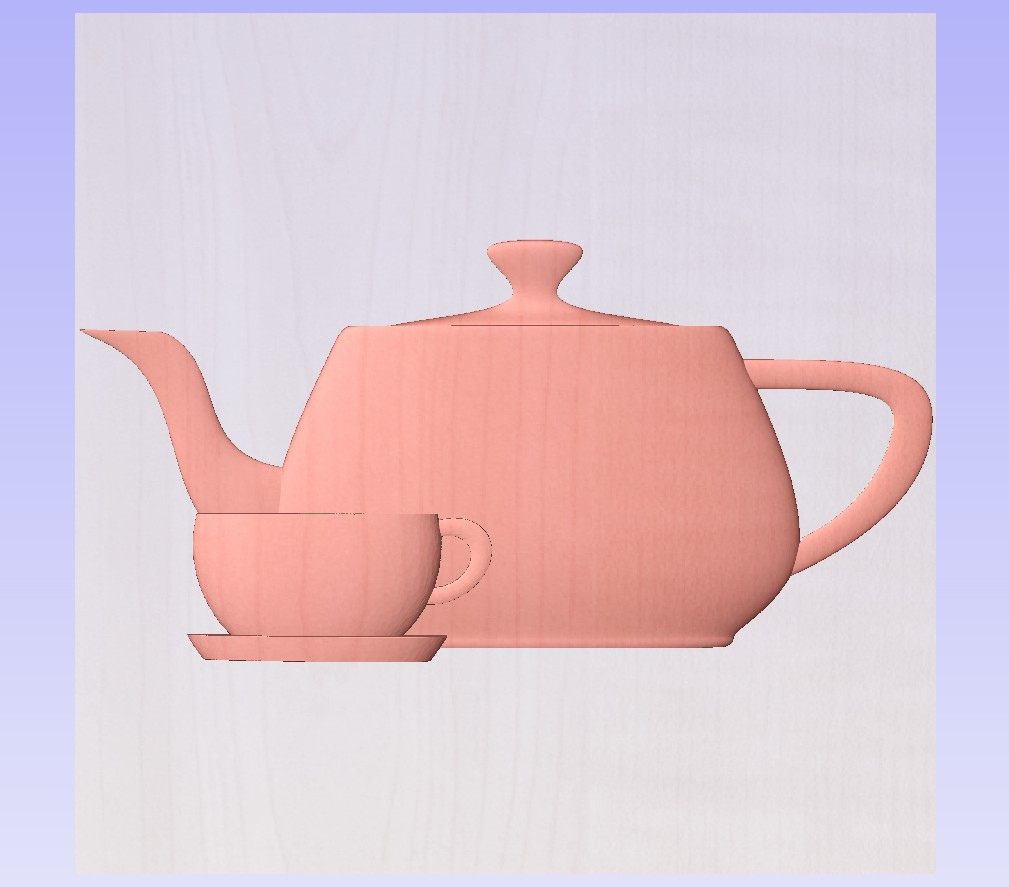 teapot and tea cup with saucer Z pers