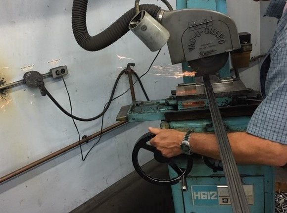 Surface Grinding Ends of Linear Rail