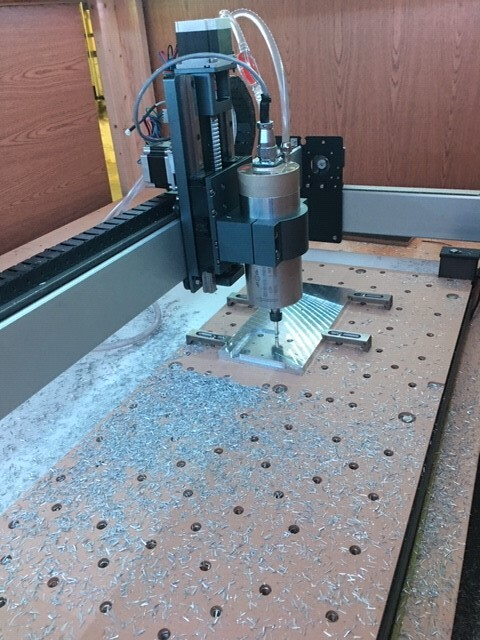 Milling X-Axis Motor Spacer