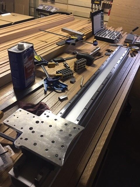 Adapter Plate and Linear Rail Bench Fitting