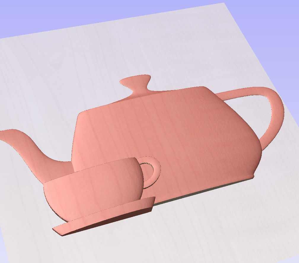 teapot and tea cup with saucer pers