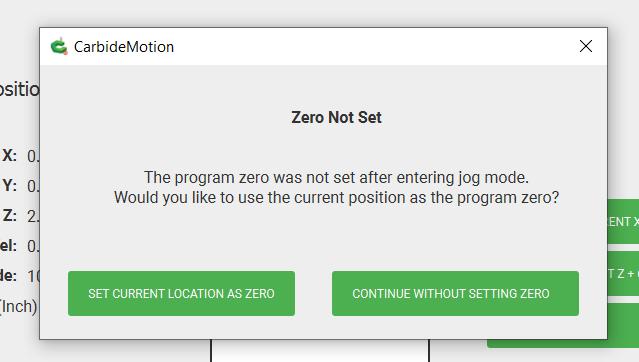 Zero Not Set